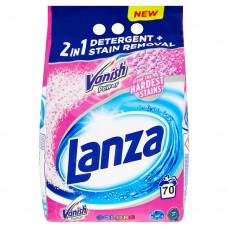 Lanza Vanish Power 2in1 Colors Washing Powder 70 Washes 5.25kg