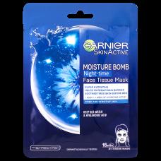 Garnier Skin Naturals Night Tissue Mask hydratační regenerační noční textilní maska
