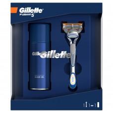 Gillette Zestaw podarunkowy: maszynka Fusion5 + żel do golenia Sensitive