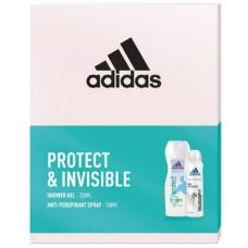 Adidas Protect & Invisible Zestaw kosmetyków dla kobiet