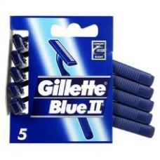 Gillette Blue II Chromium Jednorazowe maszynki do golenia dla mężczyzn, 5 sztuk