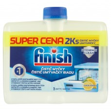 Finish Lemon Dishwasher Cleaner 2 x 250ml