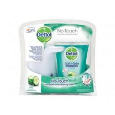 Dettol Bezdotykowy aplikator mydła w płynie z antybakteryjnym mydłem ogórkowe orzeźwienie 250 ml