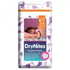 HUGGIES® DryNites plenkové kalhotky pro dívky 3-5 let
