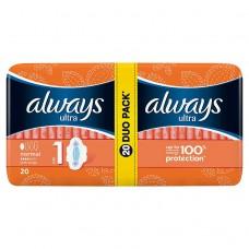 Always Ultra Normal (rozmiar 1) Podpaski ze skrzydełkami x20