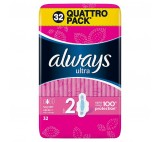 Always Ultra Super Plus Podpaski higieniczne ze skrzydełkami 32 sztuki