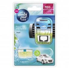 Ambi Pur Car Ocean Mist Samochodowy odświeżacz powietrza, zestaw startowy, 7ml