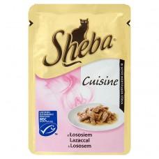 Sheba z łososiem Karma pełnoporcjowa 85 g