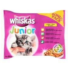 Whiskas Junior Meat Menu in Juice 4 x 100g