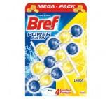 Bref WC Power Aktiv Zawieszka myjąco-zapachowa do muszli WC soczysta cytryna 3 x 50 g
