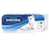 Paloma toaletní papír, bez parfemace, bílý - 3vrstvý