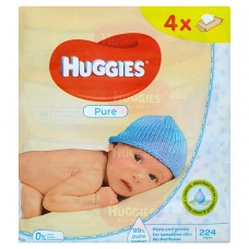 Huggies Pure Baby Wipes 224 pcs