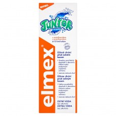 Elmex Junior z aminofluorkiem Płyn do płukania jamy ustnej bez alkoholu dla dzieci 6-12 lat 400 ml
