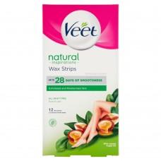 Veet Natural Inspirations Wax Strips 12 pcs