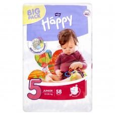 Bella Baby Happy Pieluszki jednorazowe 5 junior 12-25 kg 58 sztuk