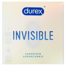 Durex Invisible dla większej bliskości Prezerwatywy 3 sztuki