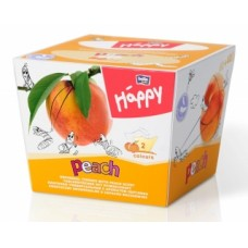 Bella Baby Happy dětské papírové kapesníky 2vrstvé s vůní broskve