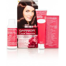Garnier Color Sensation Intense Permanent Coloring Cream Diamond Brown 4.12