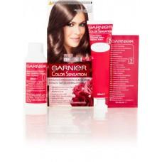 Garnier Color Sensation Intense Permanent Coloring Cream Diamond Light Brown 6.12