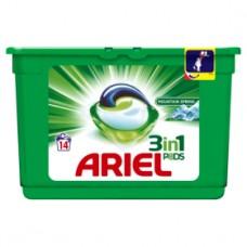 Ariel Mountain Spring 3 w 1 Kapsułki do prania, 14prań